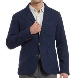 NWT Grayers Hutton Wool Twill Sport Coat Navy L